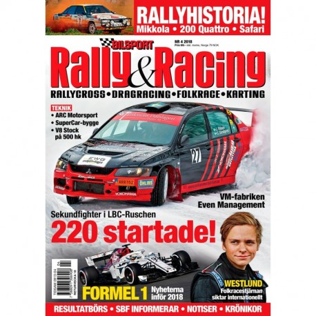 Bilsport Rally & Racing nr 4 2018